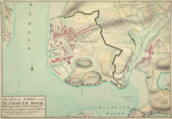 Plan of the Lines round Plymouth Dock